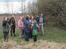 Excursion in Important Bird Area Hermansky stav- Odra - Poolzi. Photo A. Duncan